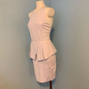NEW! Bebe White Sheath Peplum Dress size Small